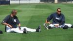 Alex Rodriguez & Derek Jeter stretching