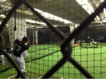 Alex Rodriguez using the batting cage