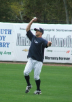 Brett Gardner doing bare hand drills