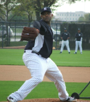CC Sabathia throwing a BP