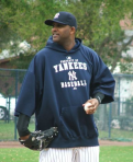 CC Sabathia during warm-ups