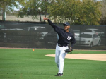 Mariano Rivera throwing warm-ups