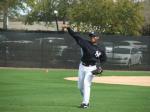 Mariano Rivera throwing warm-ups