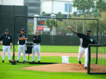 Michael Pineda throwing a bullpen session