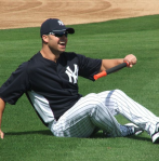 Nick Swisher stretching