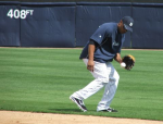 Robinson Cano taking grounders
