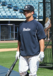 Brett Gardner finishing batting practice