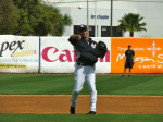 Derek Jeter fielding during the USF game