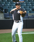Joe Girardi warming up