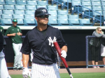Nick Swisher after his at-bat
