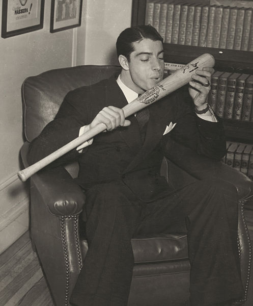 Dec. 1941 | DiMaggio and his signature bat (Photo courtesy of Library of Congress)
