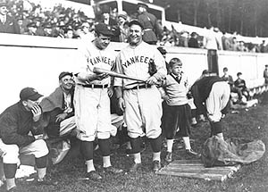Ruth & Gehrig at West Point in 1927 (Photo courtesy of Wikimedia Commons)