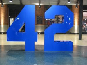 Today, we honor number 42 for changing baseball forever